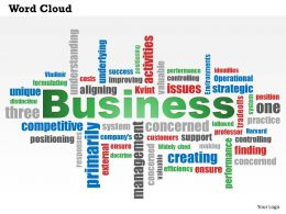 0614 Business Word Cloud PowerPoint Slide Template