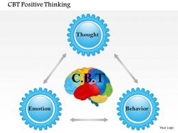 0614 Cbt Positive Thinking Powerpoint Presentation Slide Template