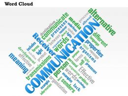 0614 Communication Word Cloud PowerPoint Slide Template