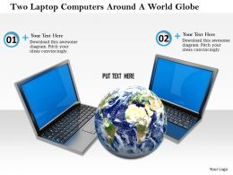0614 Computer Network Around Globe Image Graphics For Powerpoint