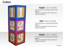 0614 Cubes To Learn Numbers Image Graphics for PowerPoint