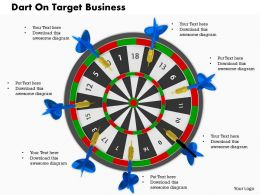 0614 Dart On Target Game Image Graphics for PowerPoint