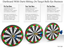 0614 Darts Hitting On Targets Image Graphics for PowerPoint