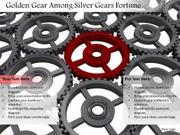 0614 Design Of Red Unique Gear Image Graphics for PowerPoint