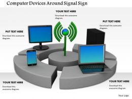 0614 Devices Around Wi Fi Signal Image Graphics For Powerpoint