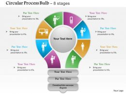 0614 Eight Staged Circular Financial Process Diagram Powerpoint Template Slide