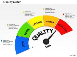 0614 Excellent Level Of Quality Meter Image Graphics for PowerPoint