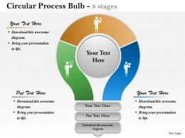 0614 Financial Circular Process Bulb Diagram Powerpoint Template Slide
