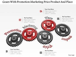 0614 Gears With 4 Ps Of Marketing Image Graphics for PowerPoint