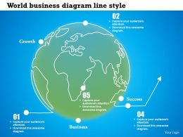 0614 Global Business Success And Growth Diagram Powerpoint Template Slide