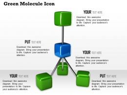 0614 Green Molecule Design Illustration Image Graphics for PowerPoint