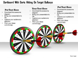 0614 Hit Bulls Eye Centre Of Target Image Graphics for PowerPoint