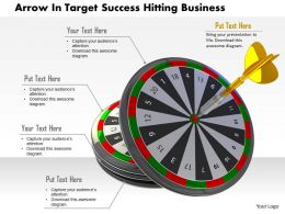 0614 Hit On Business Target Image Graphics for PowerPoint