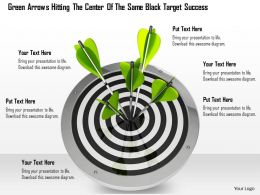 0614 Hit On Target Success Concept Image Graphics for PowerPoint