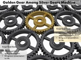0614 Illustration Of Gears Machine Image Graphics for PowerPoint