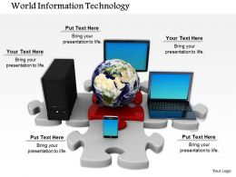 0614 Illustration Of World Information Technology Image Graphics For Powerpoint