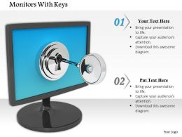 0614 Lock Computer To Save Data Image Graphics For Powerpoint