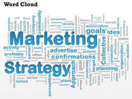 0614 Marketing Stratgey Word Cloud PowerPoint Slide Template