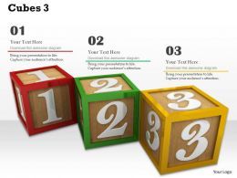 0614 Numbers Learning With Cubes Image Graphics for PowerPoint