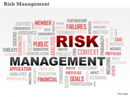 0614 Risk Management Word Cloud Word Cloud PowerPoint Slide Template