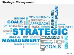 0614 Strategic Management Word Cloud PowerPoint Slide Template