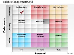 0614 Talent Management Grid Powerpoint Presentation Slide Template