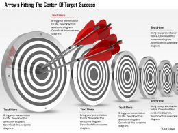 0614 Target Success Business Concept Image Graphics for PowerPoint