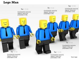 0614 Team Of Lego Men Image Graphics for PowerPoint
