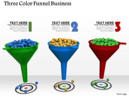 0614 Three Staged Funnel Process Image Graphics for PowerPoint
