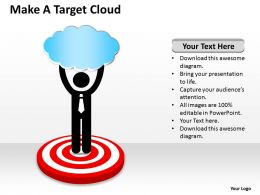 0620 Business Diagrams Examples Make Target Cloud Powerpoint Templates PPT Backgrounds For Slides