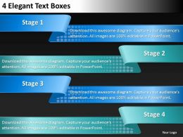 0620 Business Management Consultant 4 Elegant Text Boxes Powerpoint Slides