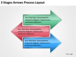0620 Business Management Consultants 3 Stages Arrows Process Layout PPT Backgrounds For Slides