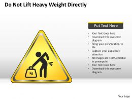 0620 Business Plan Do Not Lift Heavy Weight Directly Powerpoint Slides