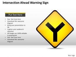 0620 Business Plan Outline Intersection Ahead Warning Sign Powerpoint Slides