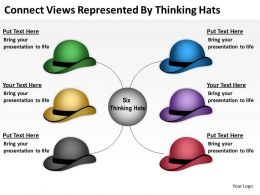 0620 Business Presentations Examples By Thinking Hats Powerpoint Templates PPT Backgrounds For Slides