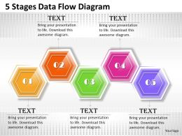 0620 Business Process Consulting 5 Stages Data Flow Diagram Powerpoint Templates PPT Backgrounds For Slides