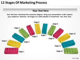 0620 Business Strategy Consultant 12 Stages Of Marketing Process Powerpoint Templates PPT Backgrounds For Slides