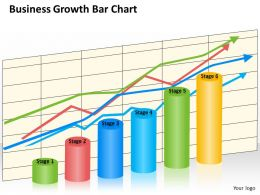0620 Business Strategy Consultant Growth Bar Chart Powerpoint Templates