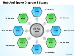 0620 Business Strategy Consulting Spoke Diagram 8 Stages Powerpoint Templates PPT Backgrounds For Slides