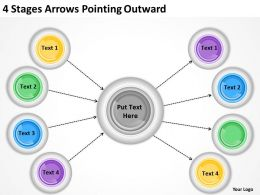 0620 Change Management Consulting 4 Stages Arrows Pointing Outward PPT Backgrounds For Slides
