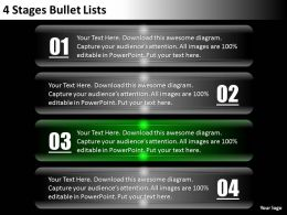 0620 Change Management Consulting 4 Stages Bullet Lists Powerpoint Templates PPT Backgrounds For Slides