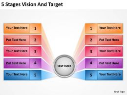 0620 Change Management Consulting 5 Stages Vision And Target Powerpoint Templates PPT Backgrounds For Slides