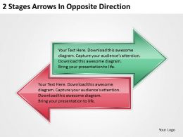 0620 Consulting Companies 2 Stages Arrows Opposite Direction Powerpoint Templates PPT Backgrounds For Slides