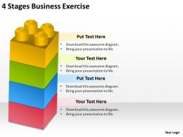 0620 Corporate Strategy 4 Stages Business Exercise Powerpoint Templates