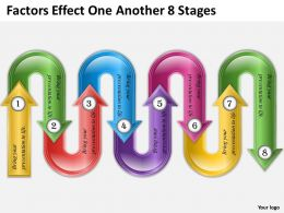0620 Corporate Strategy Factors Effect One Another 8 Stages Powerpoint Templates PPT Backgrounds For Slides