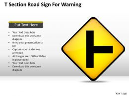 0620 Corporate Strategy Section Road Sign For Warning Powerpoint Templates