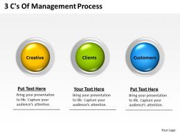 0620 Management Consultant Business 3 Cs Of Process Powerpoint Templates