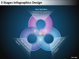 0620 Management Consultant Business 3 Stages Info graphics Design Powerpoint Templates