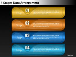 0620 Management Consultant Business 4 Stages Data Arrangement Powerpoint Backgrounds For Slides