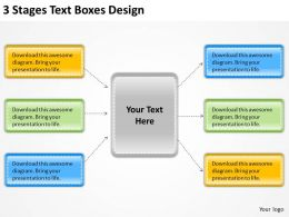 0620 Management Consultants 3 Stages Text Boxes Design Powerpoint Templates